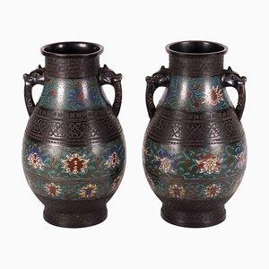 Cloisonné Vases, Set of 2
