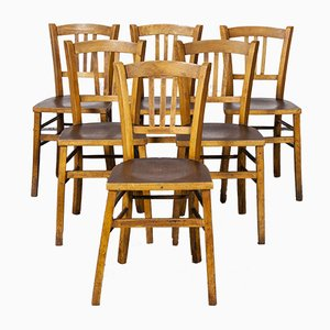 Bentwood Dining Chair with Embossed Seat by Marcel Breuer for Luterma, 1930s, Set of 6