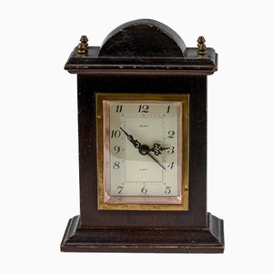 Vintage Wood and Metal Clock from Jeger, West Germany