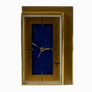 Table Clock in Gilt Metal with Original Chime from Jaccard, 1950s