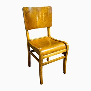 Art Deco Style Dining Chairs in Brown, Set of 6