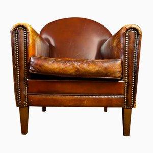 Vintage Leather Armchair in Dark Brown