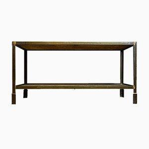 Industrial Steel Side Table in Gray
