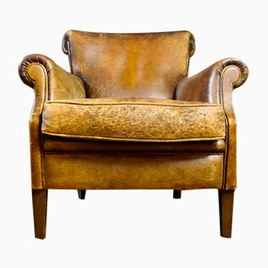 Vintage Leather Armchair in Brown