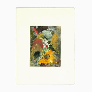 Unknown, Abstract Composition, Original Oil Painting, 1963