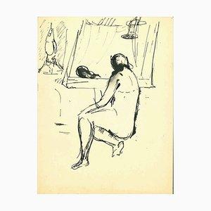 Herta Hausmann, Nude, Original India Ink Drawing, 1940s