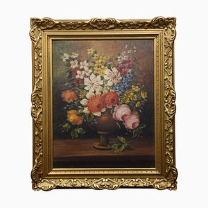 Oil on Canvas, Still Life of Flowers