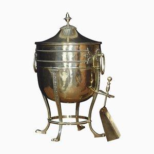 Brass Coal Vase