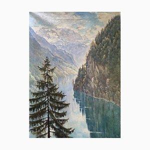 Rudolf Franz Ullman, Königssee, lac alpin, Germany, 1917