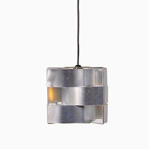 Lámpara colgante de aluminio de Max Sauze, años 60