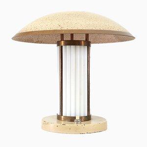 Art Deco Opal Glass Table Lamp
