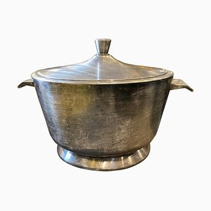 Art Deco Silver-Plated Soup Tureen by Gio Ponti for Milan Broggi, 1950s