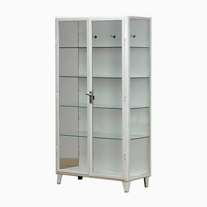 Vintage Steel and Glass Medical Cabinet, 1960s