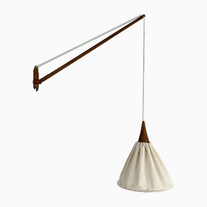 Teak Wall Lamp by Uno & Östen Kristiansson for Luxus, Sweden, 1960s
