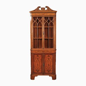 Marquetry Inlaid Corner Cabinet from Edwin & Roberts