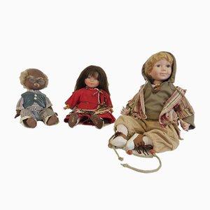 Vintage Corolle Dolls, 1960s, Set of 3
