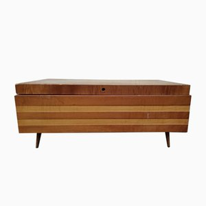 Vintage Wooden Sewing Chest, 1970s