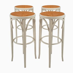 Austrian Cane and Bentwood Barstools, 1940s