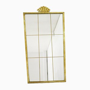 Gilt Mirror with Shell Decoration, 1950s or 1960s