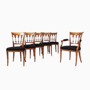 Antique Biedermeier Chairs, Set of 6
