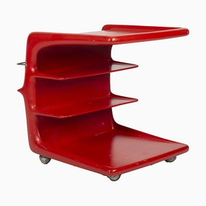 Space Age Red Side Table