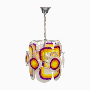 Rainbow Pendant Lamp by Gino Vistosi