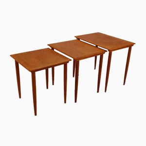 Mid-Century Danish Teak Nesting Tables, 1960s, Set of 3