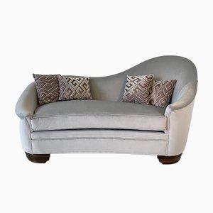 Art Deco Velvet and Macassar Sofa, 1950s