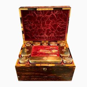 19th Century Veneered Coromandel Gentlemans Dressing Box