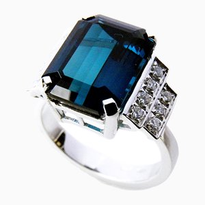 Blue Tourmaline Cocktail Ring from Berca