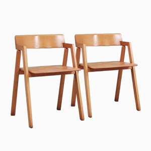 Vintage Beech Chairs by Roberto Pamio & Renato Toso for Stilwood, 1980s, Set of 4