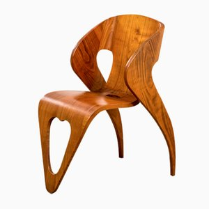 Wooden Hotel Room Chair by Roberto Gabetti and Mario Roggero, Late 1940s