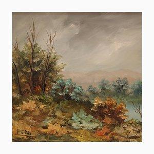 Small Impressionist Landscape by E. Ferri