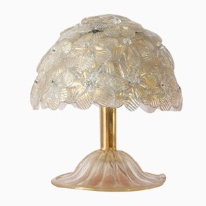Murano Glass Flower Table Lamp by Archimede Seguso