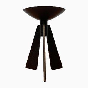 Mid-Century Brutalist Metal Tripod Candleholder