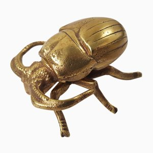 Art Deco Brass Beetle Ashtray, 1930s