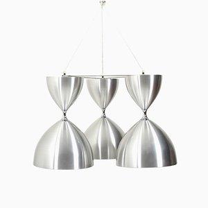 Large Triangular VEGA Hanging Lamp by Jo Hammerborg for Fog & Morup, 1968