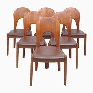 Teak Chairs by Niels Koefoed für Koefoeds Hornslet, Set of 6