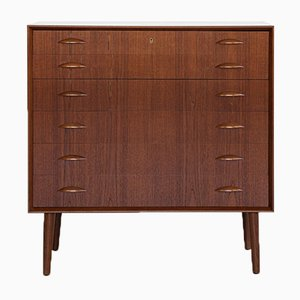 Mid-Century Danish Teak Chest of Drawers by Johannes Sorth for Nexø