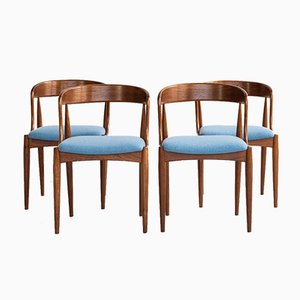 Mid-Century Danish Teak Dining Chairs by Johannes Andersen for Uldum, 1960s, Set of 4