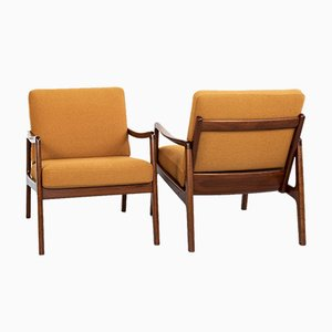 Mid-Century Danish Teak Lounge Chairs by Ole Wanscher for France & Søn, Set of 2