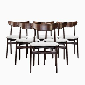 Mid-Century Danish Rosewood Dining Chairs by Schiønning & Elgaard, 1960s, Set of 6