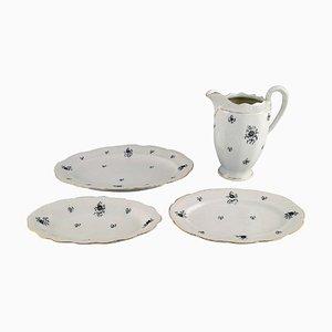 Danish Porcelain Rubens Jug and Three Dishes from KPM, Set of 4