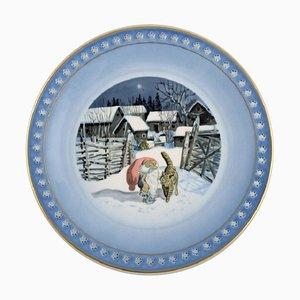 Christmas Serving Dish Harald Wiberg for Bing & Grøndahl