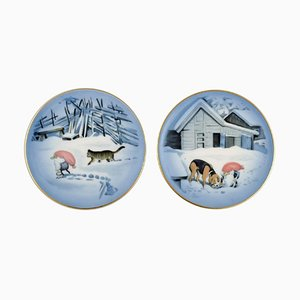 Christmas Service by Harald Wiberg for Royal Copenhagen, Set of 2