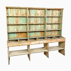 Large Antique Grocery Shop Cabinet