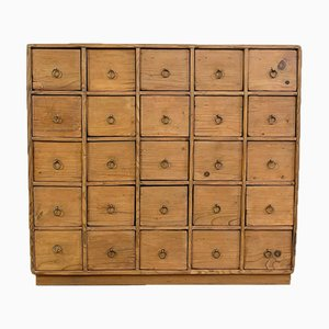 Antique Pine Wooden Chest of Drawers