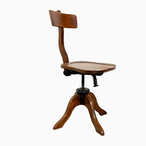 Antique Oak Swivel Desk Chair from Fortuna Gand