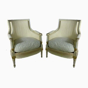 Bergères Chairs from House Gouffé, Set of 2