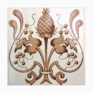 Belgium Art Nouveau Glazed Tiles, 1920, Set of 24